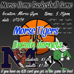 Morse Basketball Home game Th 1/17