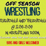 Off Season Wrestling t/th @2:30