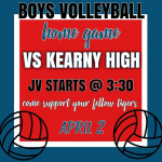 Boys VB @ Home vs Kearny Apr.2nd
