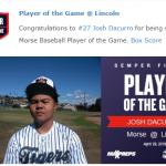 Morse baseball beats Lincoln 15-7