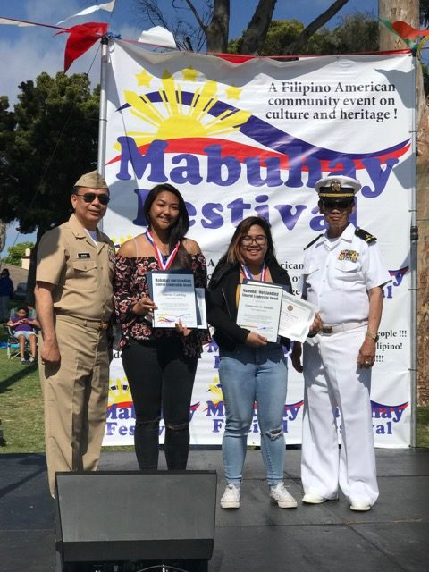 Laurine Cabiling and Emmuelle Ejanda receive Congressional and Senatorial Awards for Girls Tennis