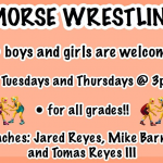 Morse Wrestling, T/TH 3pm