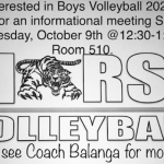 Boys Volleyball meeting Wed.Oct 9th
