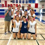 Freshman Girls Volleyball end season undefeated!