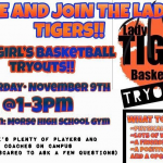 Girl's basketball tryouts
