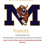 Girls Soccer Tryouts Nov.9th