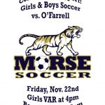 Girl's and Boy's Var Soccer Tonight!