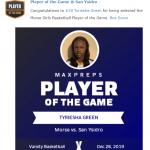 Girls Varsity Basketball beats San Ysidro 64 – 44