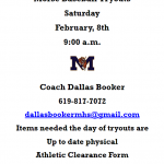 Baseball Tryouts Feb.8th