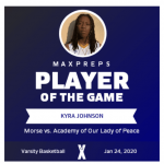 Girls Varsity Basketball beats Academy of Our Lady of Peace 77 – 56