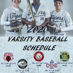 Baseball upcoming Schedule