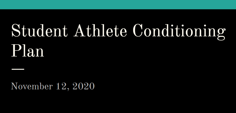 Sports Conditioning for Football and Cross Country only