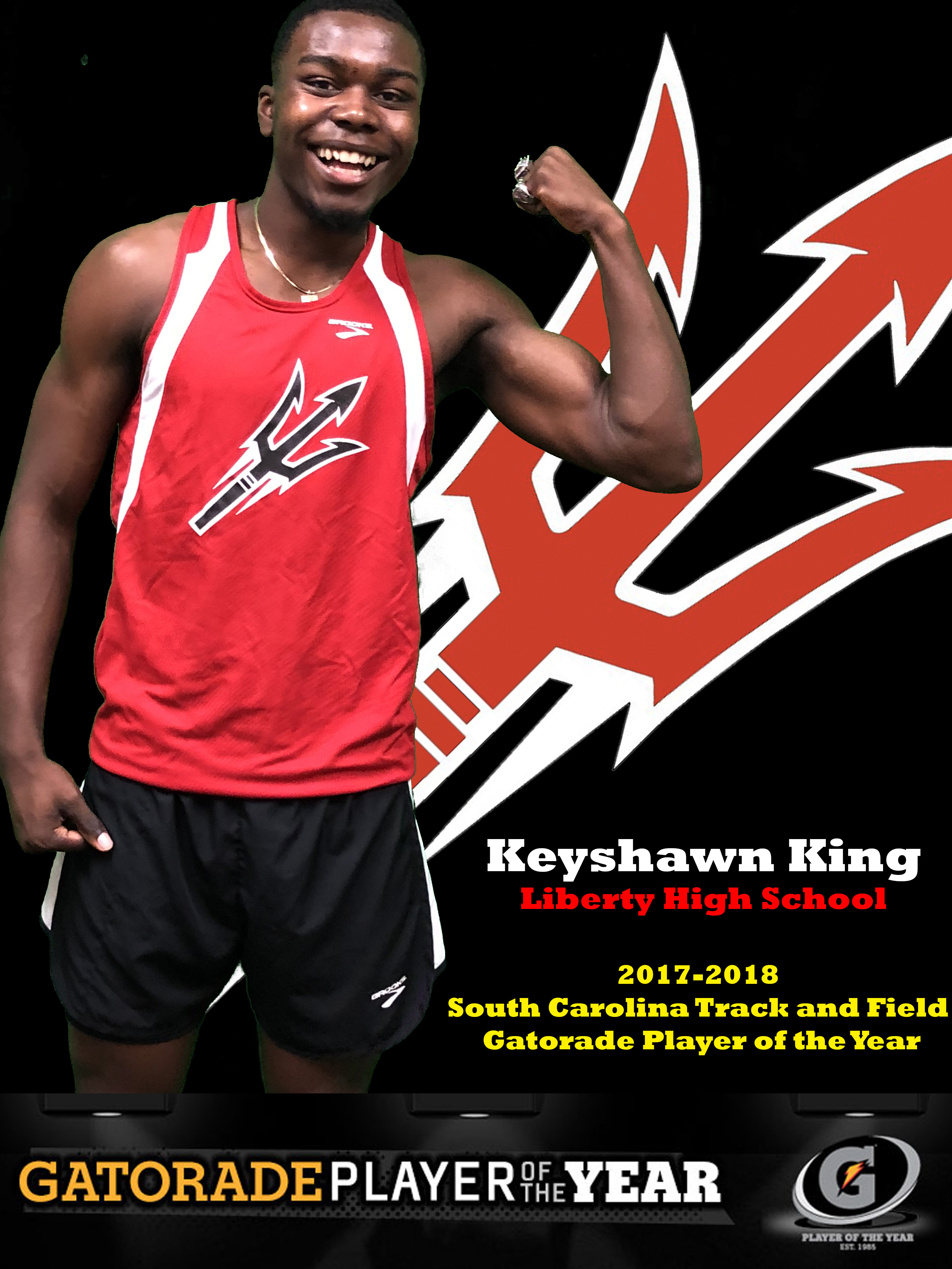 Keyshawn King- Gatorade Track & Field Athlete of the Year!