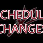 Schedule Updates- 3/25/19