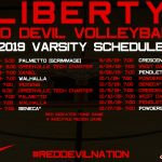2019 Volleyball Schedule Announced