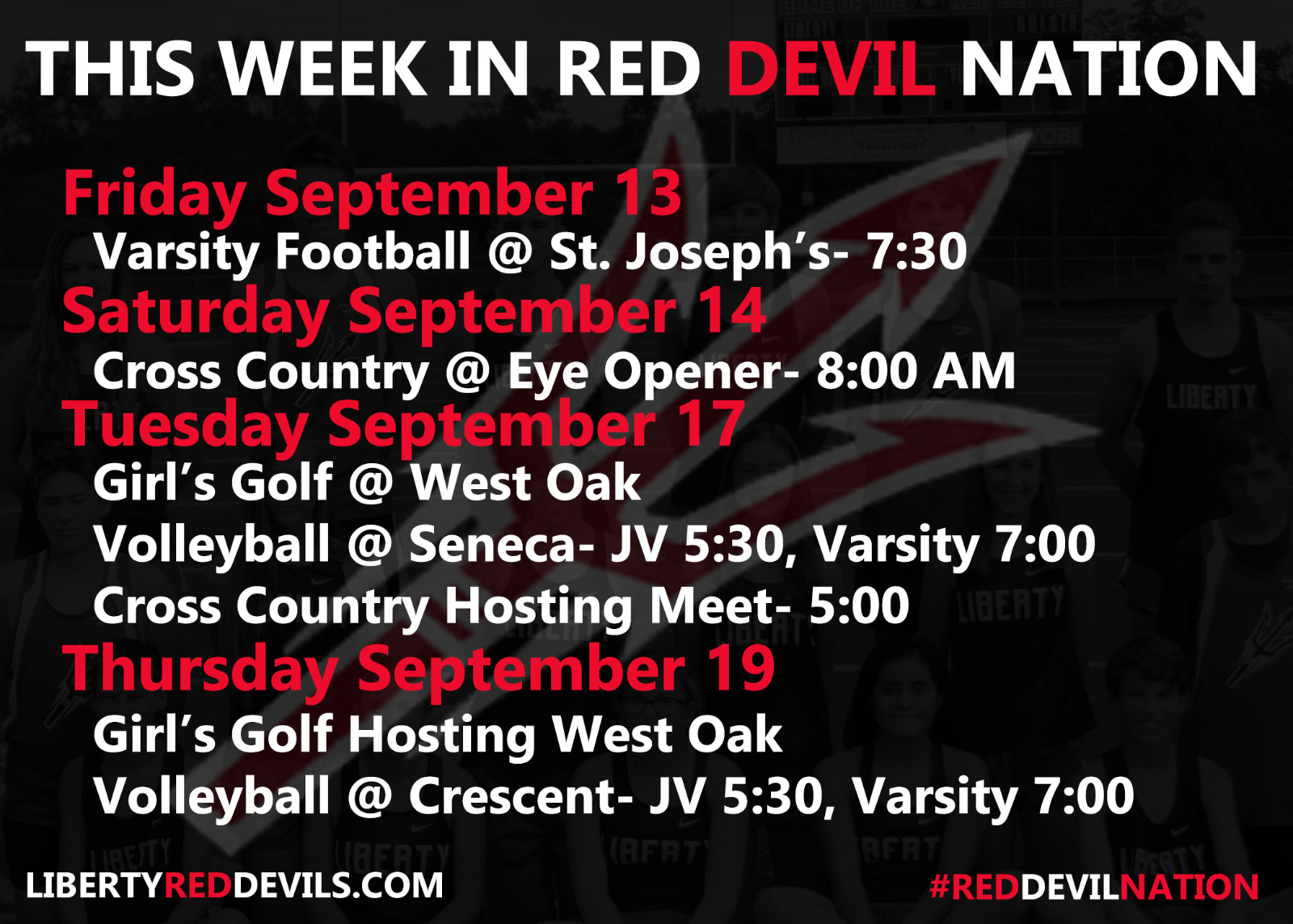 This Week in #reddevilnation 9/13-9/19