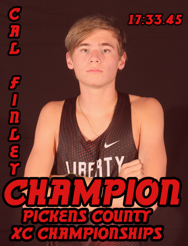 Cal Finley named Pickens County Champion as Liberty Places 2nd in County Championship