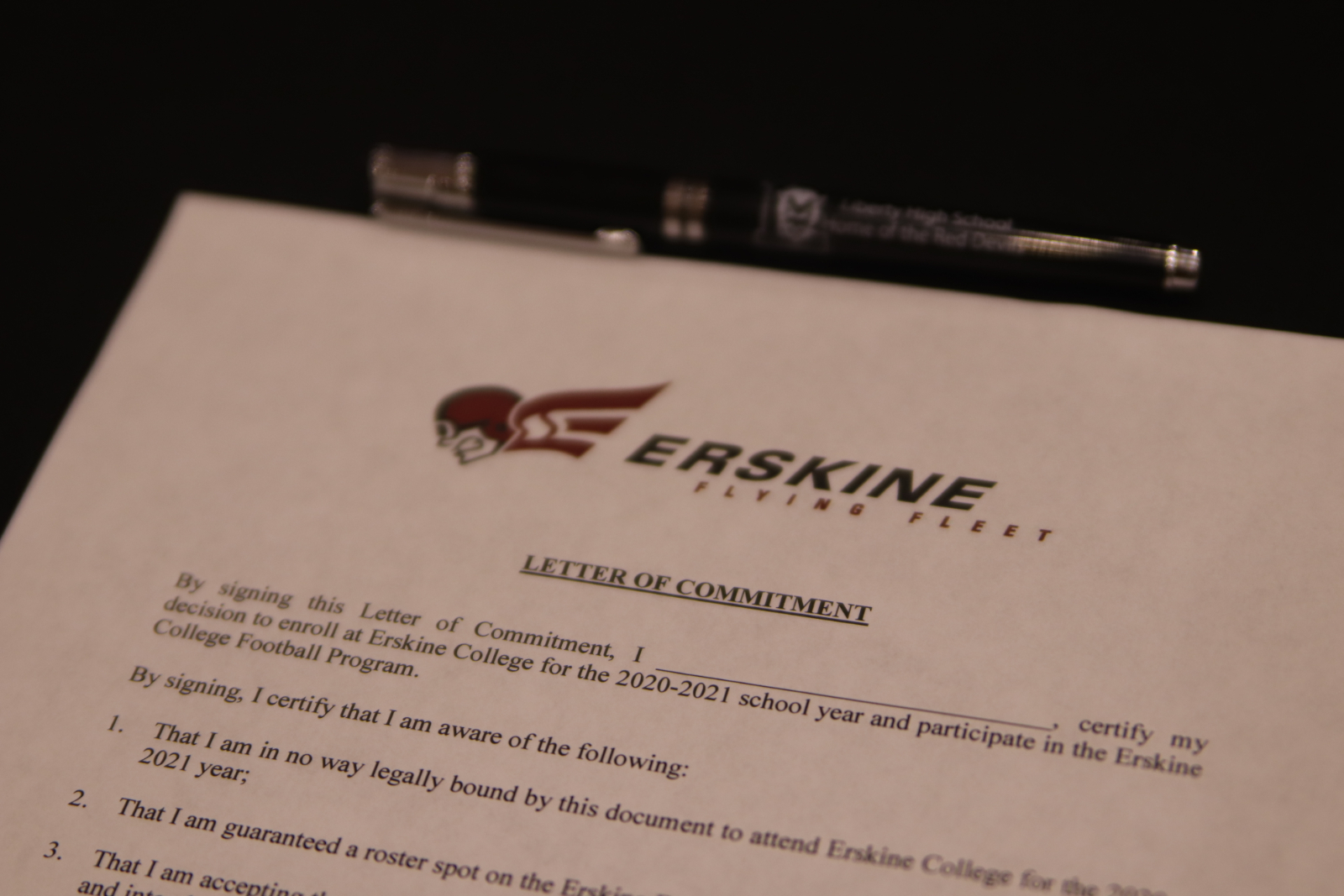 Two Seniors Sign to Erskine Football for 2020 National Signing Day