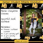 2020 Senior Student Athlete Standout–Cheyenne Chavez
