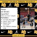 2020 Senior Student Athlete Standout–Ian Briski