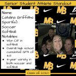 2020 Senior Student Athlete Standout–Catalina Griffiths