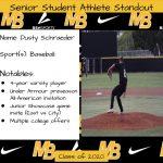 2020 Senior Student Athlete Standout–Dusty Schraeder