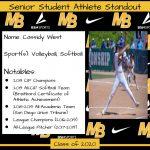 2020 Senior Student Athlete Standout–Cassidy West