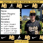 2020 Senior Student Athlete Standout–Adam Magana