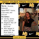 2020 Senior Student Athlete Standout–Amanda Edmunds