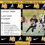 2020 Senior Student Athlete Standout–Carson Wells