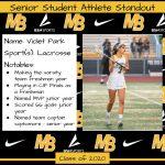 2020 Senior Student Athlete Standout–Violet Park