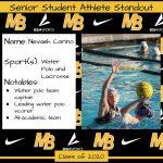 2020 Senior Student Athlete Standout–Nevaeh Carino