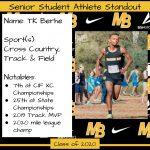 2020 Senior Student Athlete Standout–TK Berhe