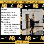 2020 Senior Student Athlete Standout