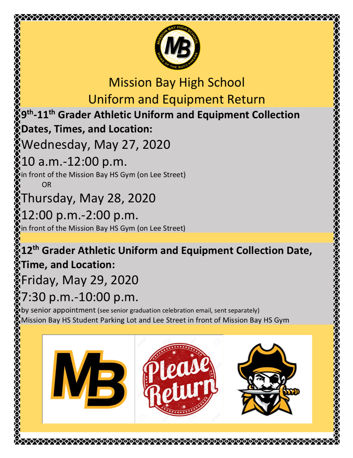 Athletic Uniform and Equipment Collection–URGENT