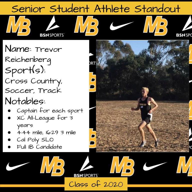 2020 Senior Student Athlete Standout–Trevor Reichenberg