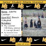 2020 Senior Student Athlete Standout – Juliette Castner