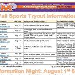 2019 Fall Sports Info