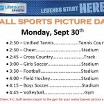Fall Sports Picture Day 9/30/19