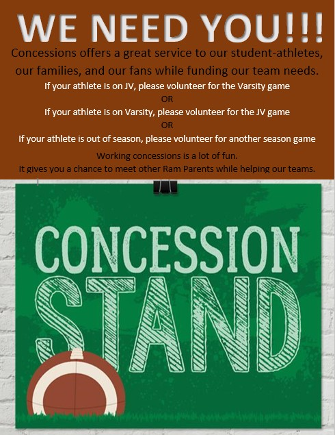 Concessions Help Needed