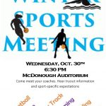Winter Sports Information Night