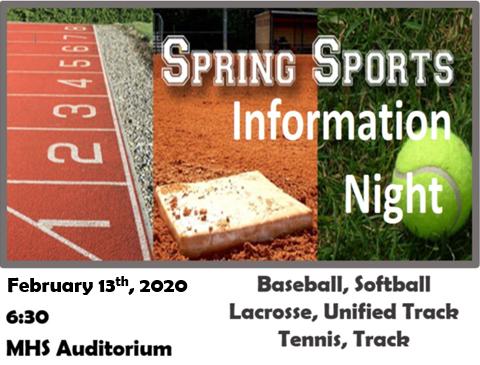 2020 Spring Sports Info Night