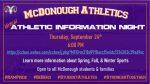Athletic Information Night