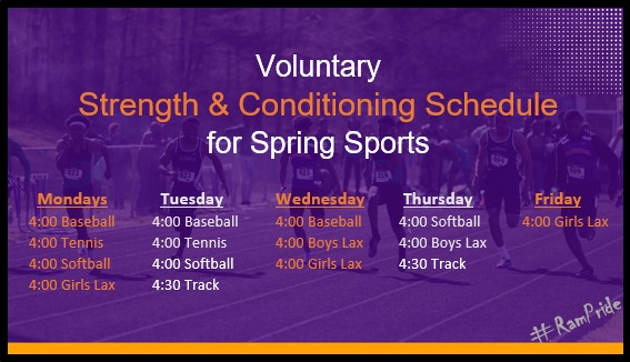 Sports Workout Schedule