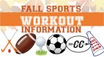 Fall Sports Workouts begin Nov. 2nd