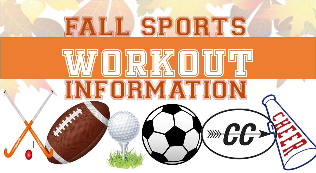 Fall Sports Workouts begin Nov. 2nd