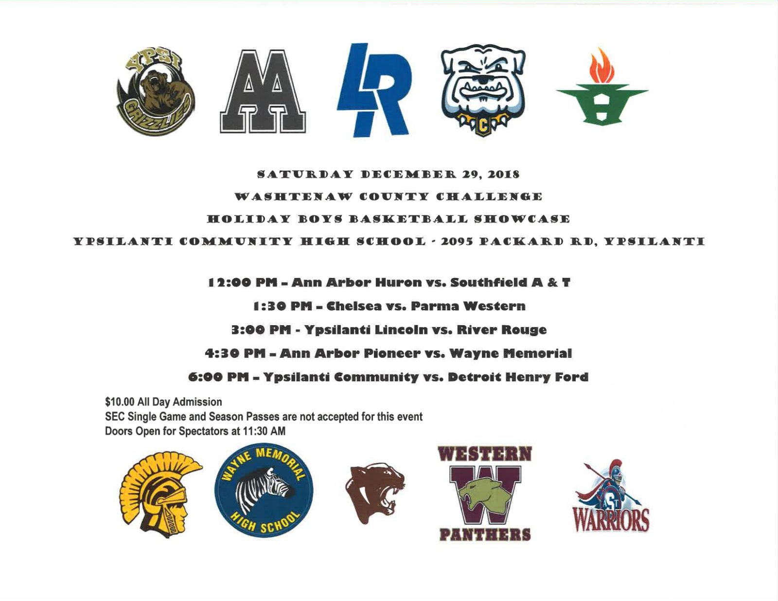 Washtenaw County Challenge Holiday Showcase – Basketball