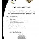 YCS HALL OF FAME GAME – September 6, 2019