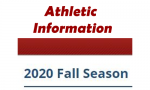 2020 Fall Season Athletic Finals Information