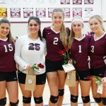 Senior Night for Girls Varsity Volleyball